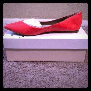 New Coral Patent Flats